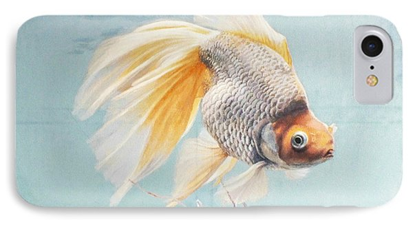 Flying In The Clouds Of Goldfish IPhone Case by Chen Baoyi