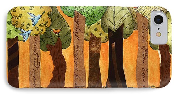 Flying In The Forest IPhone Case by Graciela Bello
