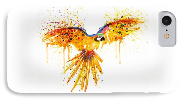 Flying Parrot Watercolor IPhone 7 Case by Marian Voicu