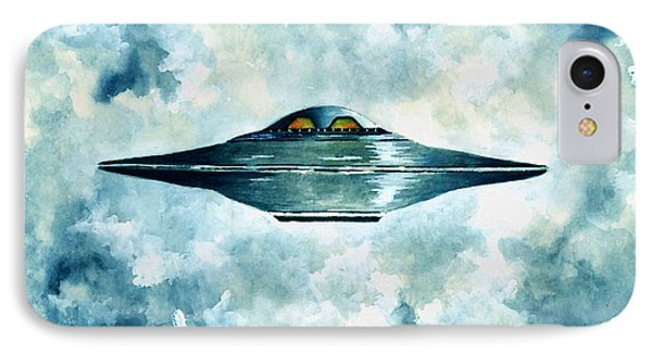 Flying Saucer IPhone Case by Michael Vigliotti