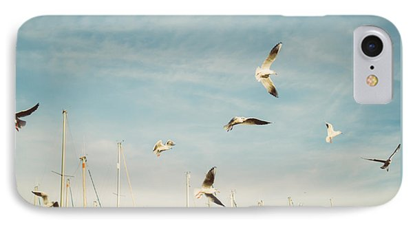 Flying Seagulls IPhone Case by Pati Photography