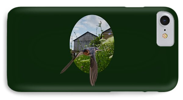 Flying Through The Farm IPhone Case by Jan M Holden