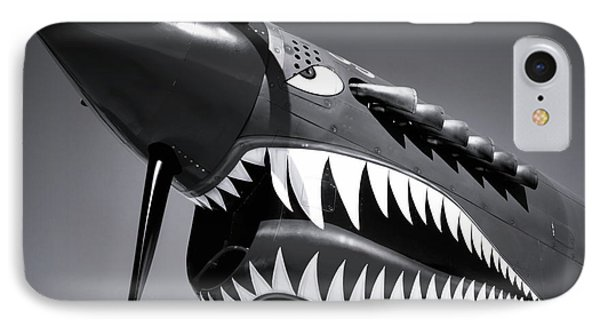 Flying Tiger Plane Black And White IPhone Case