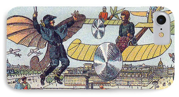 Flying Traffic Control, 1900s French IPhone Case