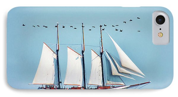 IPhone Case featuring the photograph Flying With The Ship by Elaine Manley
