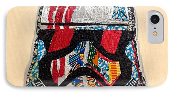 IPhone Case featuring the tapestry - textile Storm Trooper Fn-2187 Helmet Star Wars Awakens Afrofuturist Collection by Apanaki Temitayo M