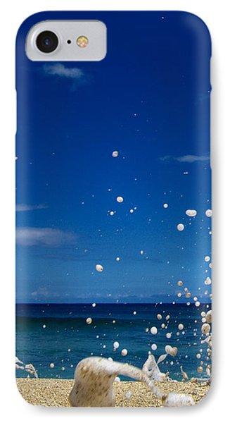 Foam Burst -  Triptych - 1 Of 3 IPhone Case by Sean Davey