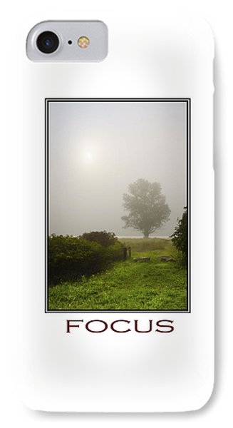 Focus Inspirational Motivational Poster Art Phone Case by Christina Rollo