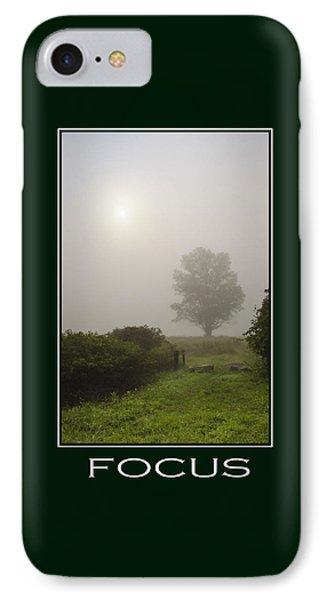 Focus Inspirational Poster Art Phone Case by Christina Rollo