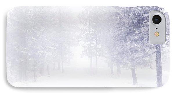 Fog And Snow Phone Case by Tara Turner