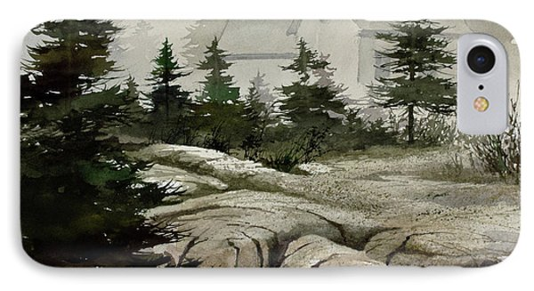 IPhone Case featuring the painting Fog At The Coast by James Williamson