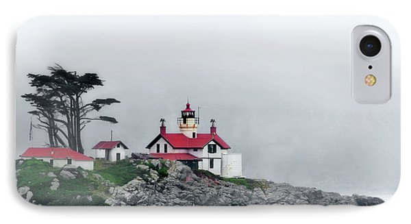 Fog Comes Rolling In - Battery Point Lighthouse - Crescent City Ca Phone Case by Christine Till