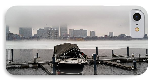 Fog Cover On The Charles River IPhone Case by Toby McGuire