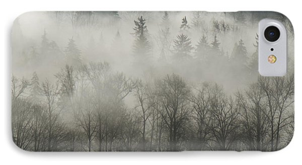 IPhone Case featuring the photograph Fog Enshrouded Forest by Lisa Knechtel