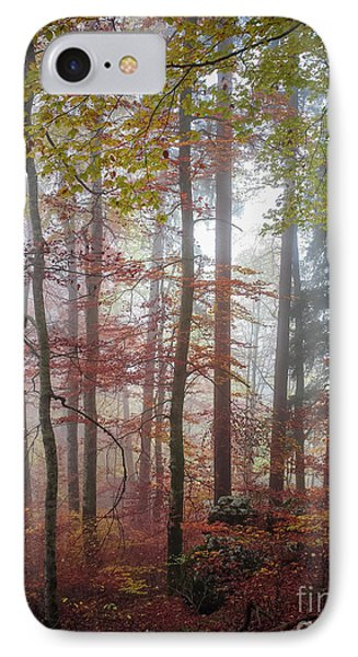 IPhone Case featuring the photograph Fog In Autumn Forest by Elena Elisseeva