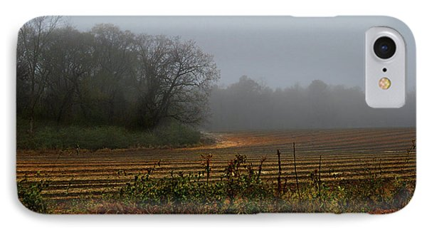 Fog In The Field IPhone Case by Laura Ragland