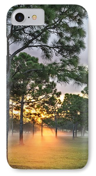 Fog In The Forest IPhone Case by Debra and Dave Vanderlaan