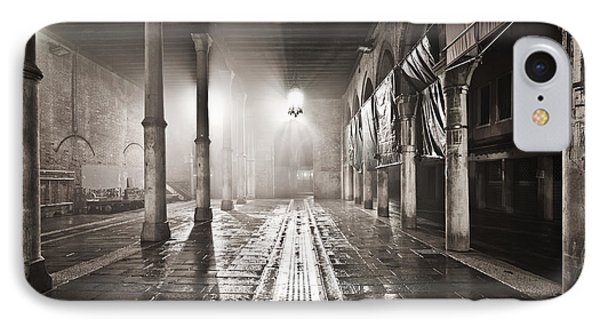 Fog In The Market IPhone Case by Marco Missiaja