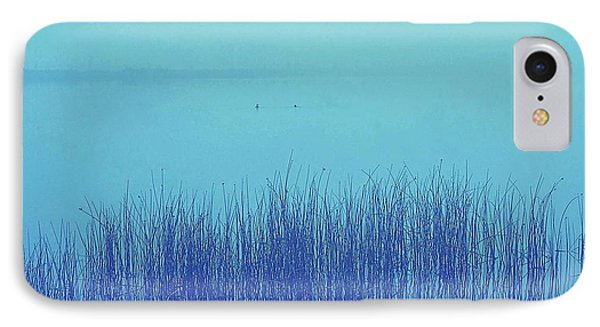 IPhone Case featuring the photograph Fog Reeds by Laurie Stewart