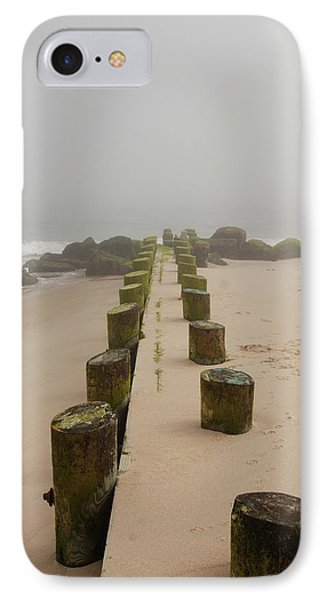 Fog Sits On Bay Head Beach - Jersey Shore IPhone Case by Angie Tirado