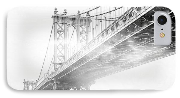 Fog Under The Manhattan Bw IPhone 7 Case by Az Jackson
