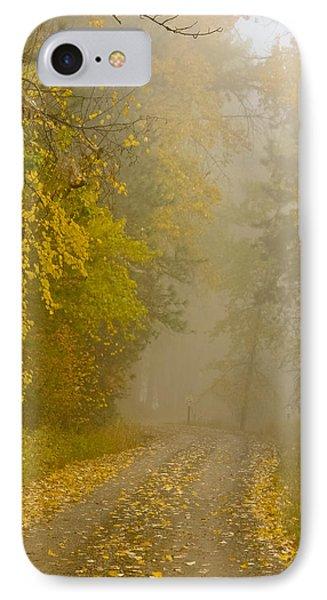 Foggy Autumn Morn IPhone Case by Albert Seger
