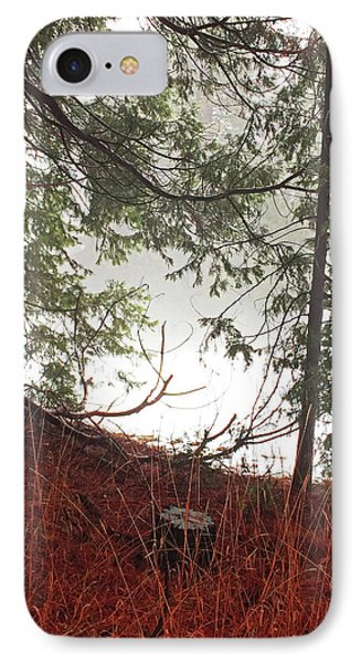 IPhone Case featuring the photograph Foggy Autumn Morning by Walter Fahmy