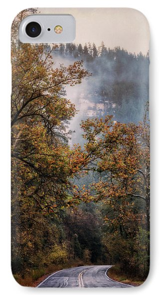 IPhone Case featuring the photograph Foggy Autumn Road  by Saija Lehtonen