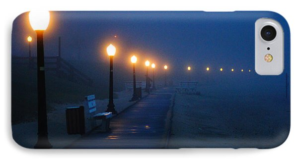 Foggy Boardwalk Blues IPhone Case