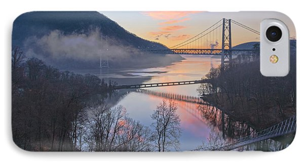 Foggy Dawn At Three Bridges IPhone Case