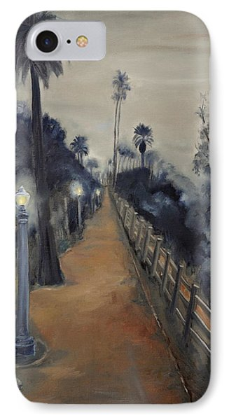 Foggy Day On Ocean Ave IPhone Case by Lindsay Frost