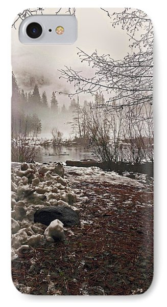IPhone Case featuring the photograph Foggy Early Morning 2016 by Walter Fahmy