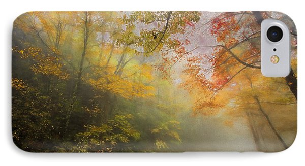 Foggy Fall Foliage II IPhone Case