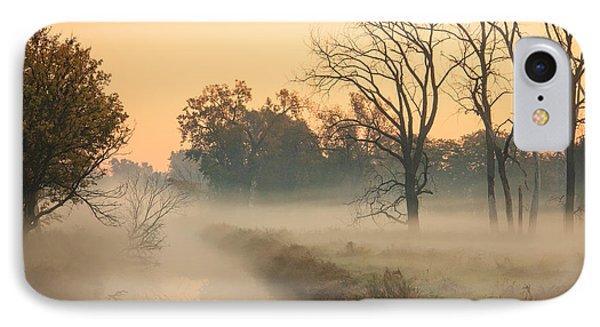 Foggy Fall Morning On Gary Avenue IPhone Case by Joni Eskridge