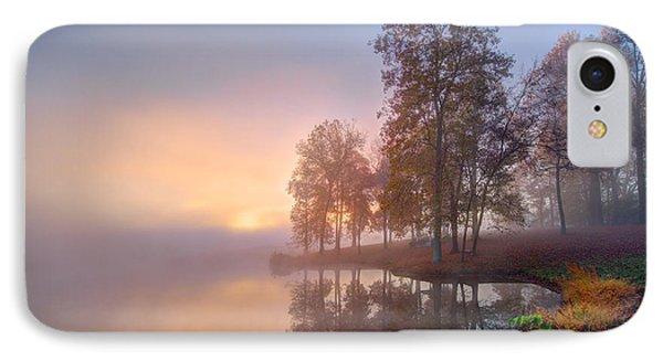 Foggy Fall Sunrise IPhone Case