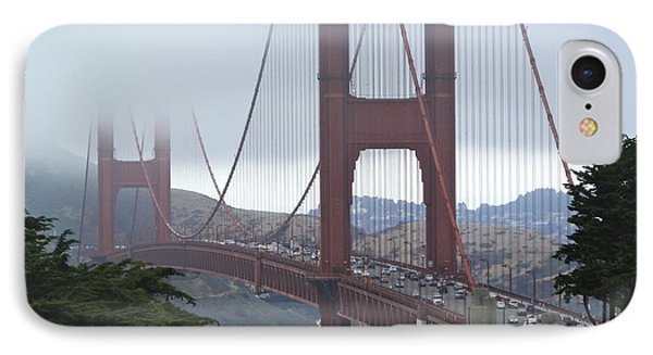 Foggy Golden Gate IPhone Case by Margaret Brooks