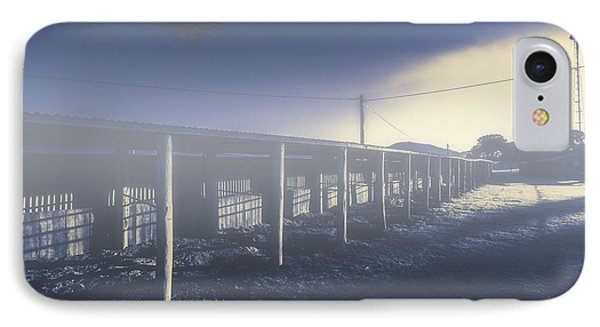 Foggy Horse Stables IPhone Case by Jorgo Photography - Wall Art Gallery