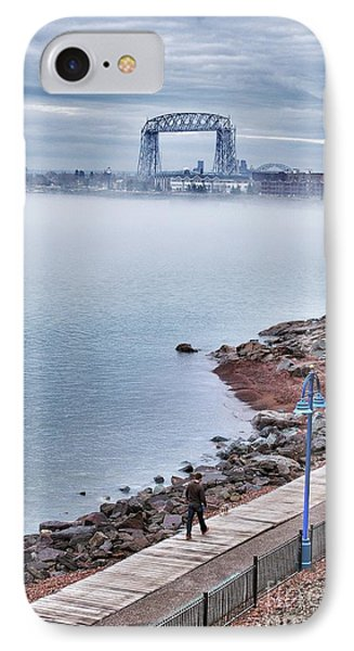 Foggy Lake Superior Afternoon IPhone Case by Mark David Zahn