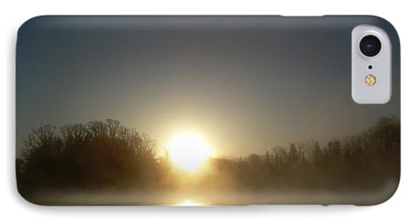 IPhone Case featuring the photograph Foggy Mississippi River Sunrise by Kent Lorentzen