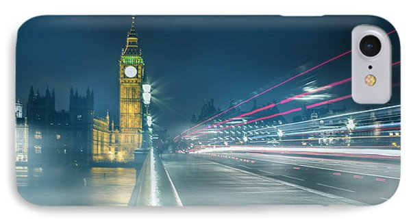 Foggy Mist Covered Westminster Bridge IPhone Case by Martin Newman