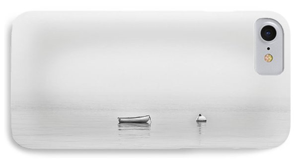 IPhone Case featuring the photograph Foggy Mooring by Richard Bean