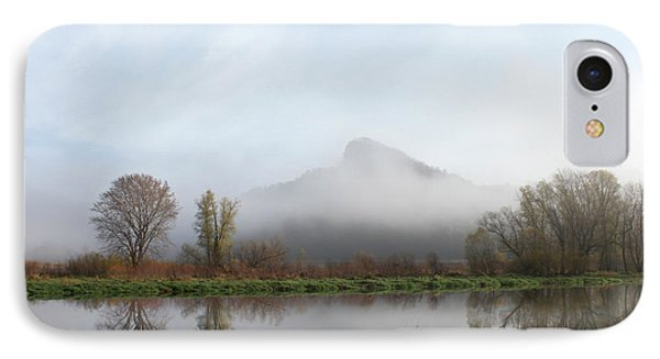 Foggy Morning Bluff IPhone Case by Inspired Arts