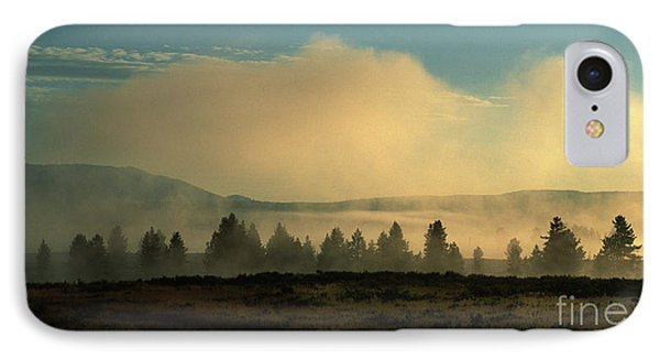 Foggy Morning In Yellowstone IPhone Case by Sandra Bronstein