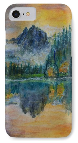 Foggy Mountain Lake Phone Case by David Frankel