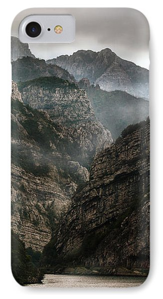 Foggy Mountains Over Neretva Gorge IPhone Case by Jaroslaw Blaminsky