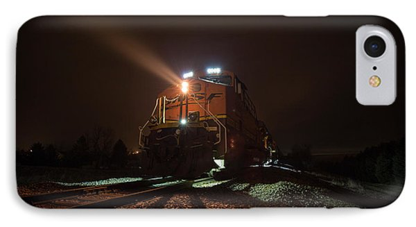 IPhone Case featuring the photograph Foggy Night Train  by Aaron J Groen