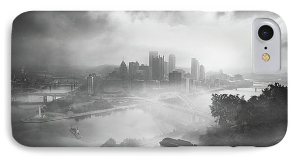 IPhone Case featuring the photograph Foggy Pittsburgh  by Emmanuel Panagiotakis