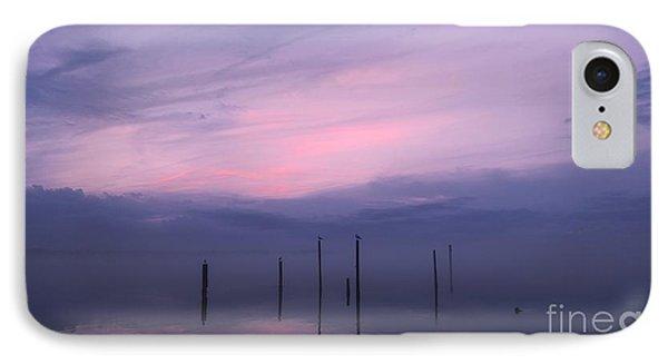 Foggy Purple Haze Sunset IPhone Case by Benanne Stiens