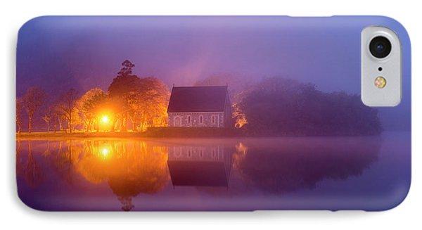 Foggy St. Finbarrs Oratory, Gougane Barra, Cork IPhone Case
