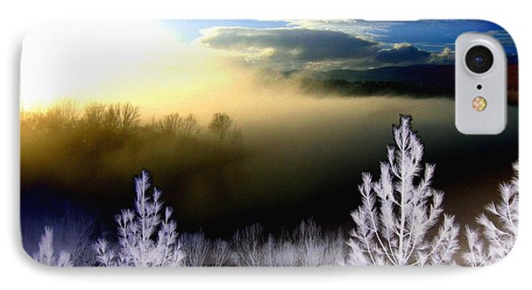 Foggy Winter Sunset Phone Case by Will Borden
